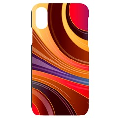 Abstract Colorful Background Wavy Iphone X/xs Black Uv Print Case
