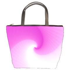 Abstract Spiral Pattern Background Bucket Bag by Sapixe