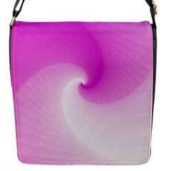 Abstract Spiral Pattern Background Flap Closure Messenger Bag (s)