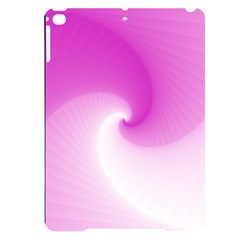 Abstract Spiral Pattern Background Apple Ipad Pro 9 7   Black Uv Print Case