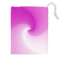 Abstract Spiral Pattern Background Drawstring Pouch (xxxl)
