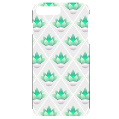 Plant Pattern Green Leaf Flora Iphone 7/8 Plus Black Uv Print Case