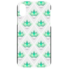 Plant Pattern Green Leaf Flora Iphone Xr Black Uv Print Case