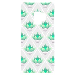 Plant Pattern Green Leaf Flora Samsung S9 Black Uv Print Case