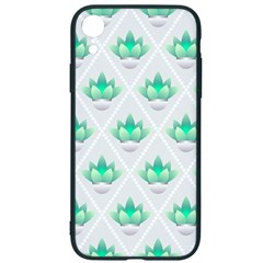 Plant Pattern Green Leaf Flora Iphone Xr Soft Bumper Uv Case