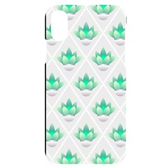 Plant Pattern Green Leaf Flora Iphone X/xs Black Uv Print Case