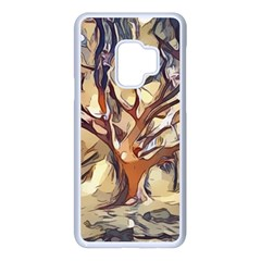 Tree Forest Woods Nature Landscape Samsung Galaxy S9 Seamless Case(white)