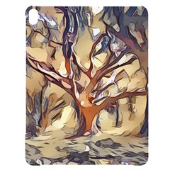Tree Forest Woods Nature Landscape Apple Ipad Pro 12 9   Black Uv Print Case