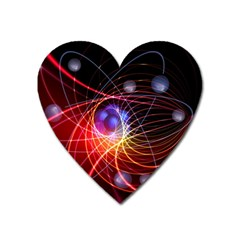 Physics Quantum Physics Particles Heart Magnet by Sapixe