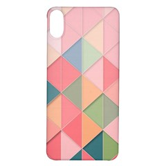 Background Geometric Triangle Iphone X/xs Soft Bumper Uv Case