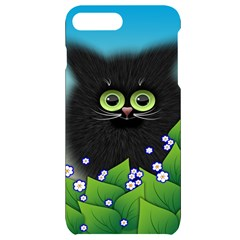 Kitten Black Furry Illustration Iphone 7/8 Plus Black Uv Print Case