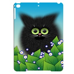 Kitten Black Furry Illustration Apple Ipad Pro 9 7   Black Uv Print Case