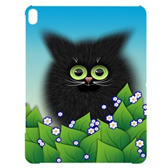 Kitten Black Furry Illustration Apple Ipad Pro 12 9   Black Uv Print Case