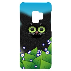 Kitten Black Furry Illustration Samsung S9 Black Uv Print Case