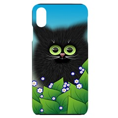 Kitten Black Furry Illustration Iphone Xs Max