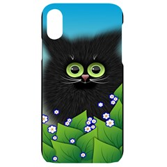 Kitten Black Furry Illustration Iphone Xr Black Uv Print Case
