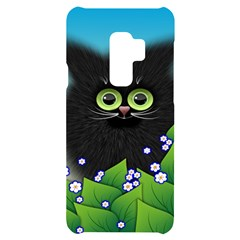 Kitten Black Furry Illustration Samsung S9 Plus Black Uv Print Case