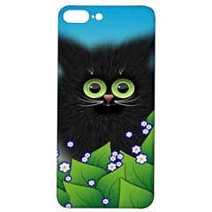 Kitten Black Furry Illustration Iphone 7/8 Plus Soft Bumper Uv Case