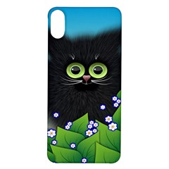 Kitten Black Furry Illustration Iphone X/xs Soft Bumper Uv Case