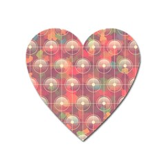 Colorful Background Abstract Heart Magnet