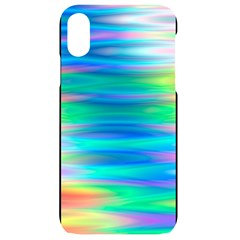 Wave Rainbow Bright Texture Iphone Xr Black Uv Print Case