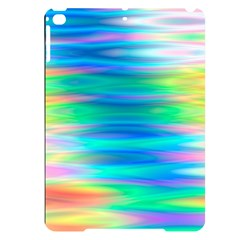 Wave Rainbow Bright Texture Apple Ipad Pro 9 7   Black Uv Print Case