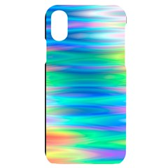 Wave Rainbow Bright Texture Iphone X/xs Black Uv Print Case