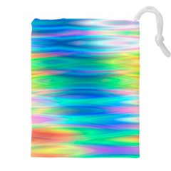 Wave Rainbow Bright Texture Drawstring Pouch (xxxl)