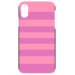 Pink Stripes Striped Design Pattern Iphone Xr Black Uv Print Case