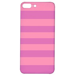 Pink Stripes Striped Design Pattern Iphone 7/8 Plus Soft Bumper Uv Case