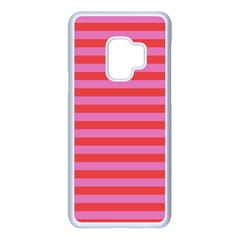 Stripes Striped Design Pattern Samsung Galaxy S9 Seamless Case(white)