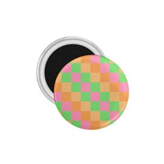 Checkerboard Pastel Squares 1 75  Magnets by Sapixe