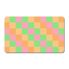 Checkerboard Pastel Squares Magnet (rectangular) by Sapixe