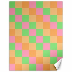 Checkerboard Pastel Squares Canvas 12  X 16  by Sapixe