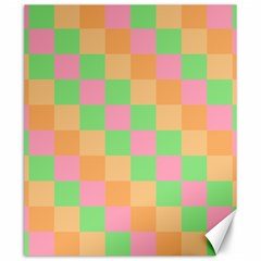 Checkerboard Pastel Squares Canvas 20  X 24  by Sapixe