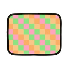 Checkerboard Pastel Squares Netbook Case (small) by Sapixe