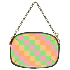 Checkerboard Pastel Squares Chain Purse (two Sides) by Sapixe