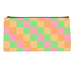 Checkerboard Pastel Squares Pencil Cases by Sapixe