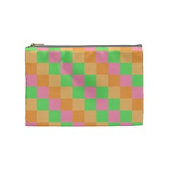 Checkerboard Pastel Squares Cosmetic Bag (medium) by Sapixe