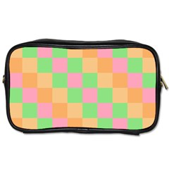 Checkerboard Pastel Squares Toiletries Bag (one Side) by Sapixe