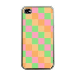 Checkerboard Pastel Squares Iphone 4 Case (clear) by Sapixe