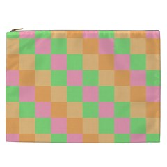 Checkerboard Pastel Squares Cosmetic Bag (xxl) by Sapixe