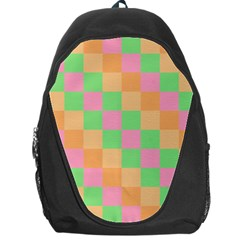 Checkerboard Pastel Squares Backpack Bag by Sapixe