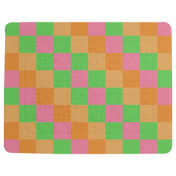 Checkerboard Pastel Squares Jigsaw Puzzle Photo Stand (Rectangular)