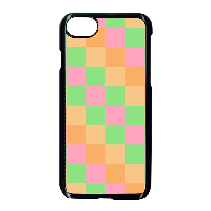 Checkerboard Pastel Squares iPhone 7 Seamless Case (Black)