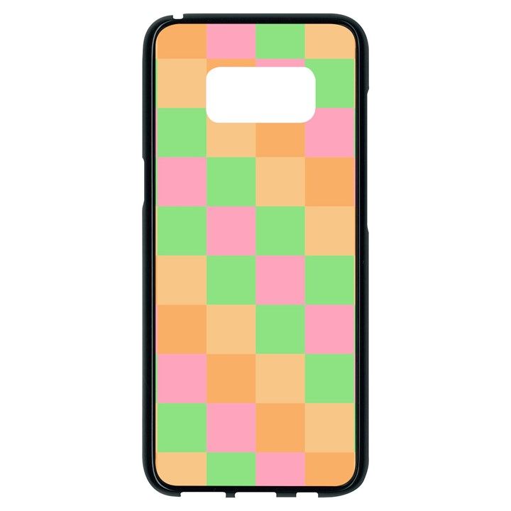 Checkerboard Pastel Squares Samsung Galaxy S8 Black Seamless Case