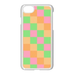 Checkerboard Pastel Squares Iphone 8 Seamless Case (white) by Sapixe