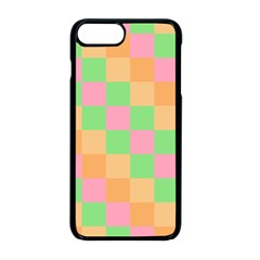Checkerboard Pastel Squares Iphone 8 Plus Seamless Case (black) by Sapixe