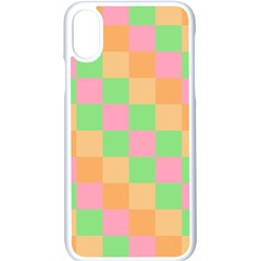 Checkerboard Pastel Squares Iphone Xs Seamless Case (white)