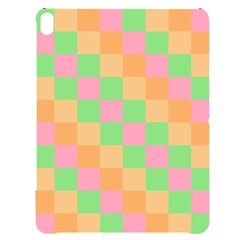Checkerboard Pastel Squares Apple Ipad Pro 12 9   Black Uv Print Case